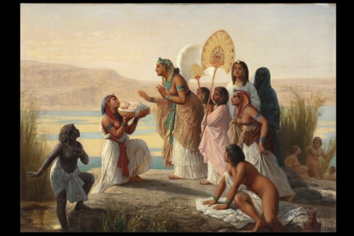 Paintings & Drawings  - Moses saved from the waters -  Henry Pierre Picou (1824  1895)