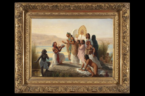 Moses saved from the waters -  Henry Pierre Picou (1824  1895) -