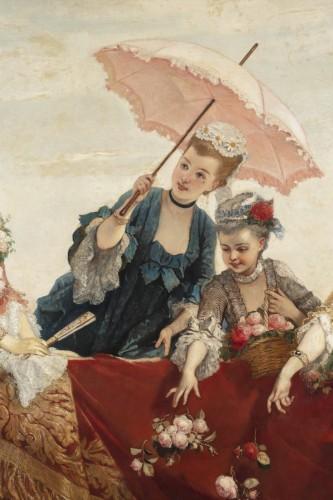 Large Painting -  Cesare dell'acqua -