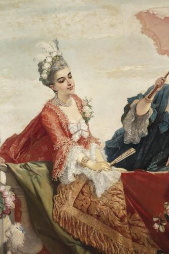 19th century - Large Painting -  Cesare dell'acqua