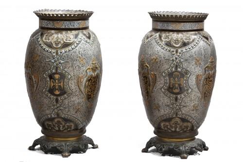 Pair Of Large Porcelain Vases