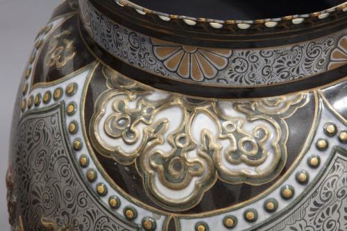 Pair Of Large Porcelain Vases - Napoléon III