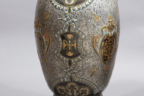 Napoléon III - Pair Of Large Porcelain Vases