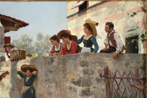 19th century - La serenata - Raffaello Sorbi (1844-1931)