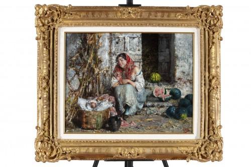 The Watermelon Seller - Vincenzo Irolli (Naples 1860 - 1942)