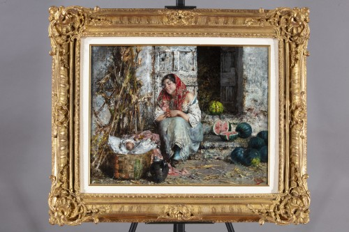 The Watermelon Seller - Vincenzo Irolli (Naples 1860 - 1942) - Paintings & Drawings Style Napoléon III