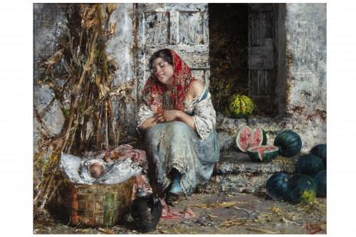 Paintings & Drawings  - The Watermelon Seller - Vincenzo Irolli (Naples 1860 - 1942)