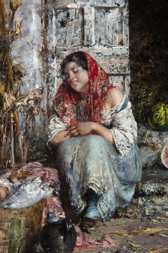 The Watermelon Seller - Vincenzo Irolli (Naples 1860 - 1942) -
