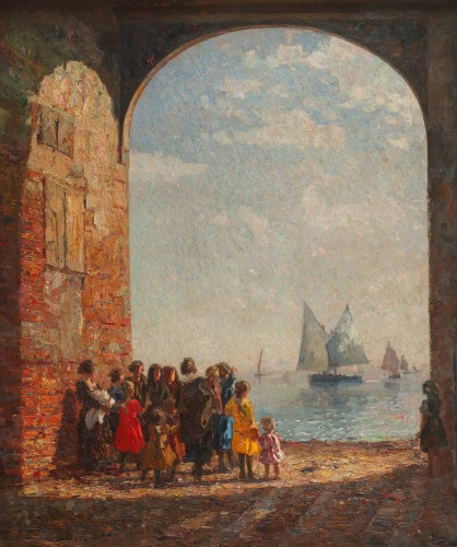 """Beppe Ciardi (1875-1932) - """"Arch on the lagoon"""" -"""
