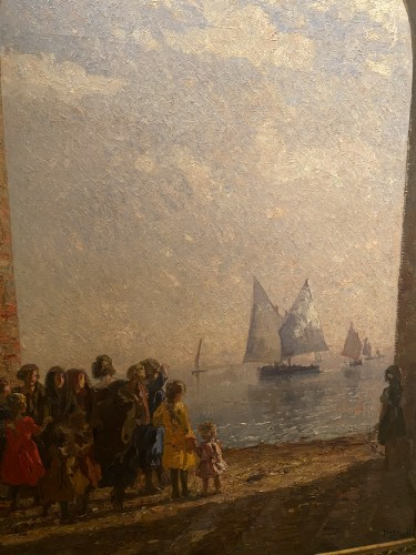 "Beppe Ciardi (1875-1932) - ""Arch on the lagoon"" - Napoléon III"