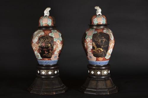 Asian Works of Art  - Pair Of 19th Century Japanese Imari Vases