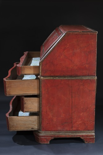 Eighteenth Century Lacquered Drop-leaf Cabinet -