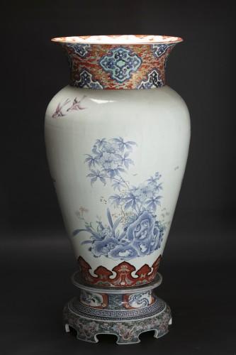Monumental Imari Vase - Porcelain & Faience Style Napoléon III