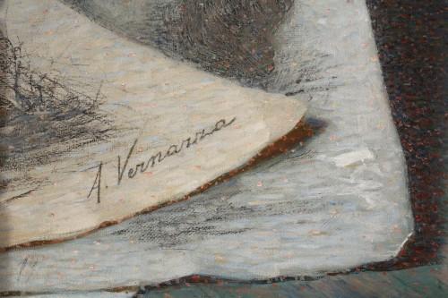 Portrait of woman  by Angelo Vernazza - Art nouveau