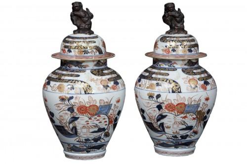 Pair of Imari jars