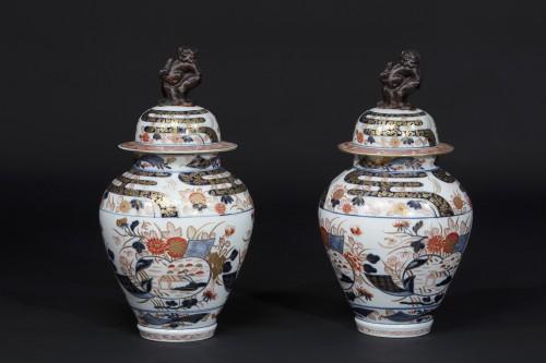 Asian Works of Art  - Pair of Imari jars