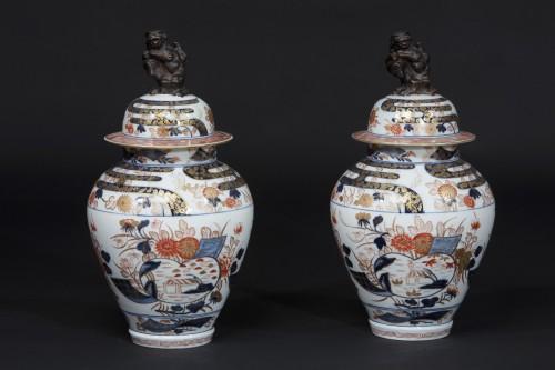 Antiquités - Pair of Imari jars