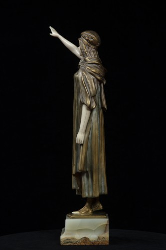 Sculpture  - The Farewell - Chryselephantine By Demetre Chiparus