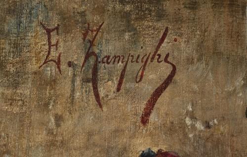 Paintings & Drawings  - Domestic scene - Eugenio Zampighi (1859-1944)