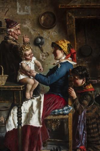 Domestic scene - Eugenio Zampighi (1859-1944) -
