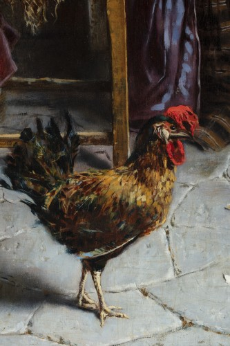 19th century - Domestic scene - Eugenio Zampighi (1859-1944)