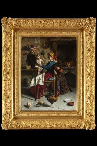 Domestic scene - Eugenio Zampighi (1859-1944) - Napoléon III