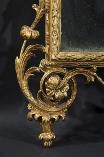Large tuscan mirror in gilded and carved wood - Mirrors, Trumeau Style