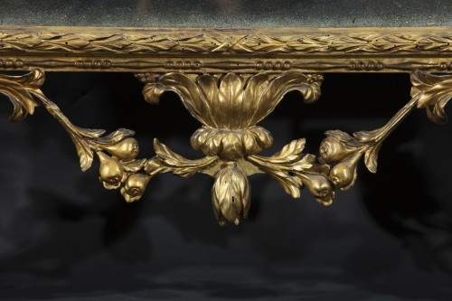 Mirrors, Trumeau  - Large tuscan mirror in gilded and carved wood