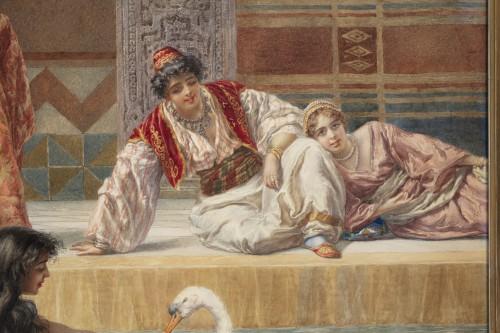 Orientalist watercolor by Pietro Gabrini (1856-1926) -