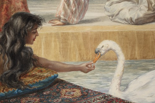 19th century - Orientalist watercolor by Pietro Gabrini (1856-1926)