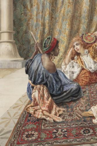 Orientalist watercolor by Pietro Gabrini (1856-1926) - Napoléon III