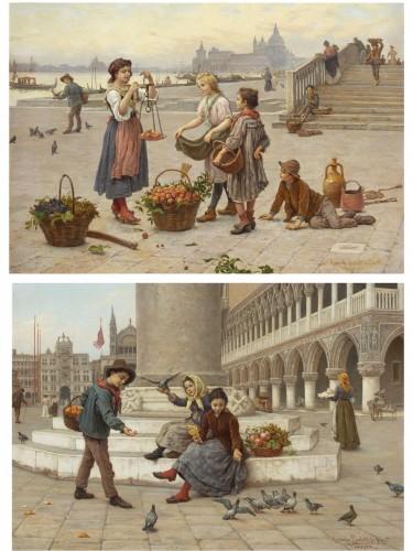 Pair of paintings  - Antonio Ermolao Paoletti (1834 - 1912)