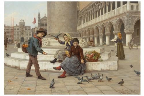 Pair of paintings  - Antonio Ermolao Paoletti (1834 - 1912) - Paintings & Drawings Style Napoléon III