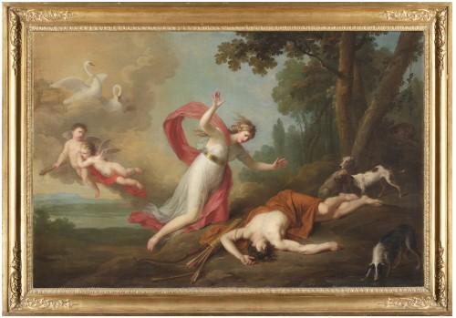 Venus and Adonis -  Augustin van den Berghe (1756 - 1836)