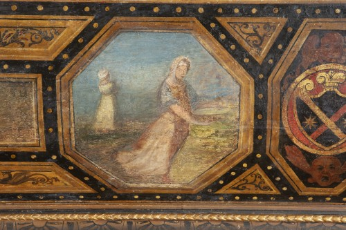 Furniture  - Polychrome Lacquered Wood Wedding Chest