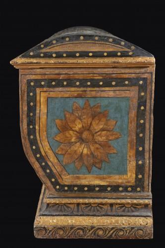 Polychrome Lacquered Wood Wedding Chest - Renaissance