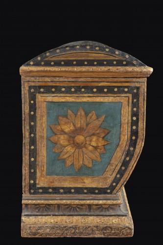 Renaissance - Polychrome Lacquered Wood Wedding Chest