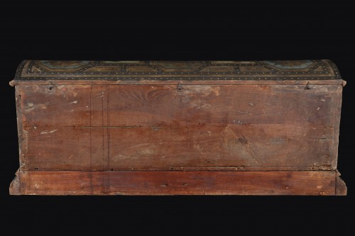 Antiquités - Polychrome Lacquered Wood Wedding Chest