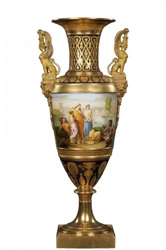Monumental porcelain vase