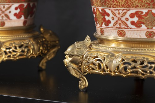Pair of Japanese porcelain vases from the Meiji period - Asian Works of Art Style Napoléon III