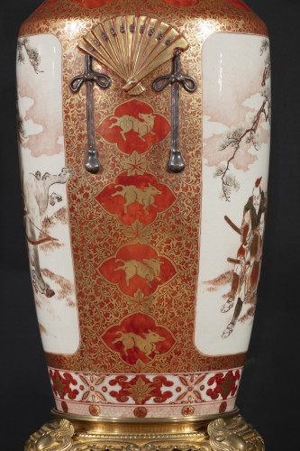 Pair of Japanese porcelain vases from the Meiji period - Napoléon III