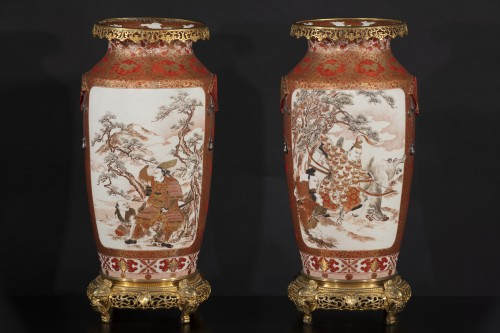 Napoléon III - Pair of Japanese porcelain vases from the Meiji period