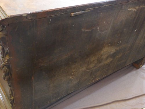 Large wedding chest of the late XVIIth century - Furniture Style Louis XIV