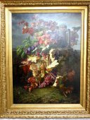 "Large 19th century painting "" Fruits d'automne "" signed Lays"