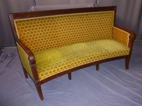 canap restauration galb sur son dossier xixe si cle. Black Bedroom Furniture Sets. Home Design Ideas