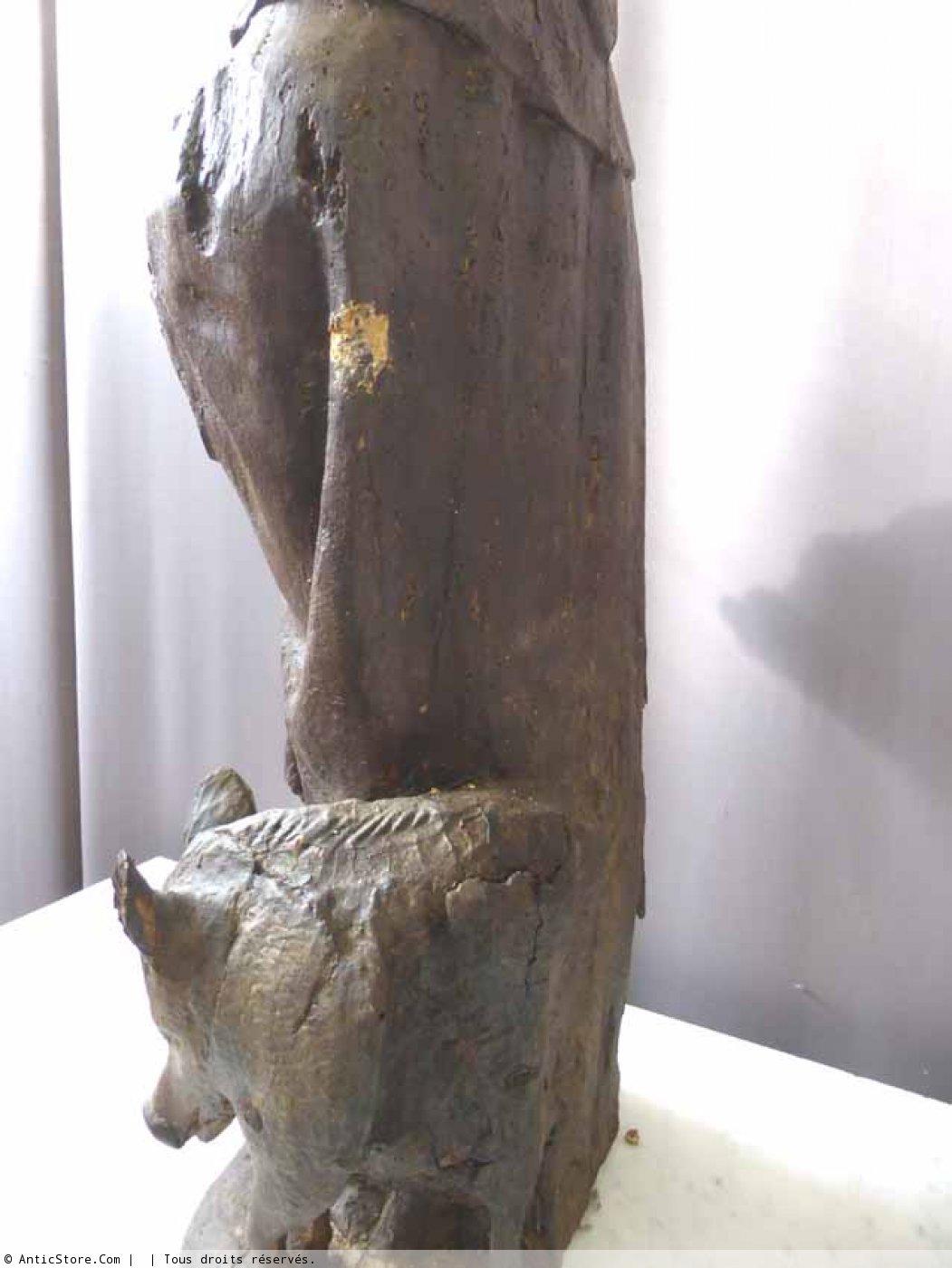 Sculpture de st antoine fin xviie d but xviiie for Miroir st antoine
