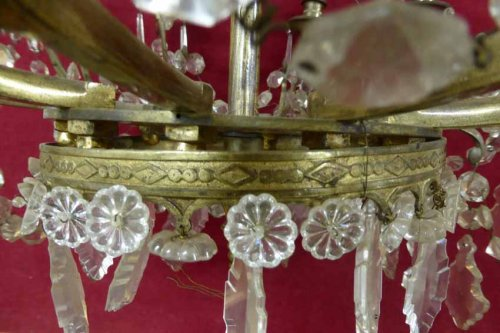 French Empire period Bronze and crystal chandelier, XIXth century - Lighting Style Empire