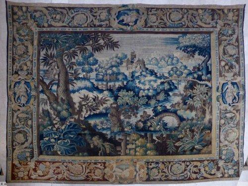Tapisserie ancienne antiquit s anticstore - Comment enlever de la tapisserie facilement ...