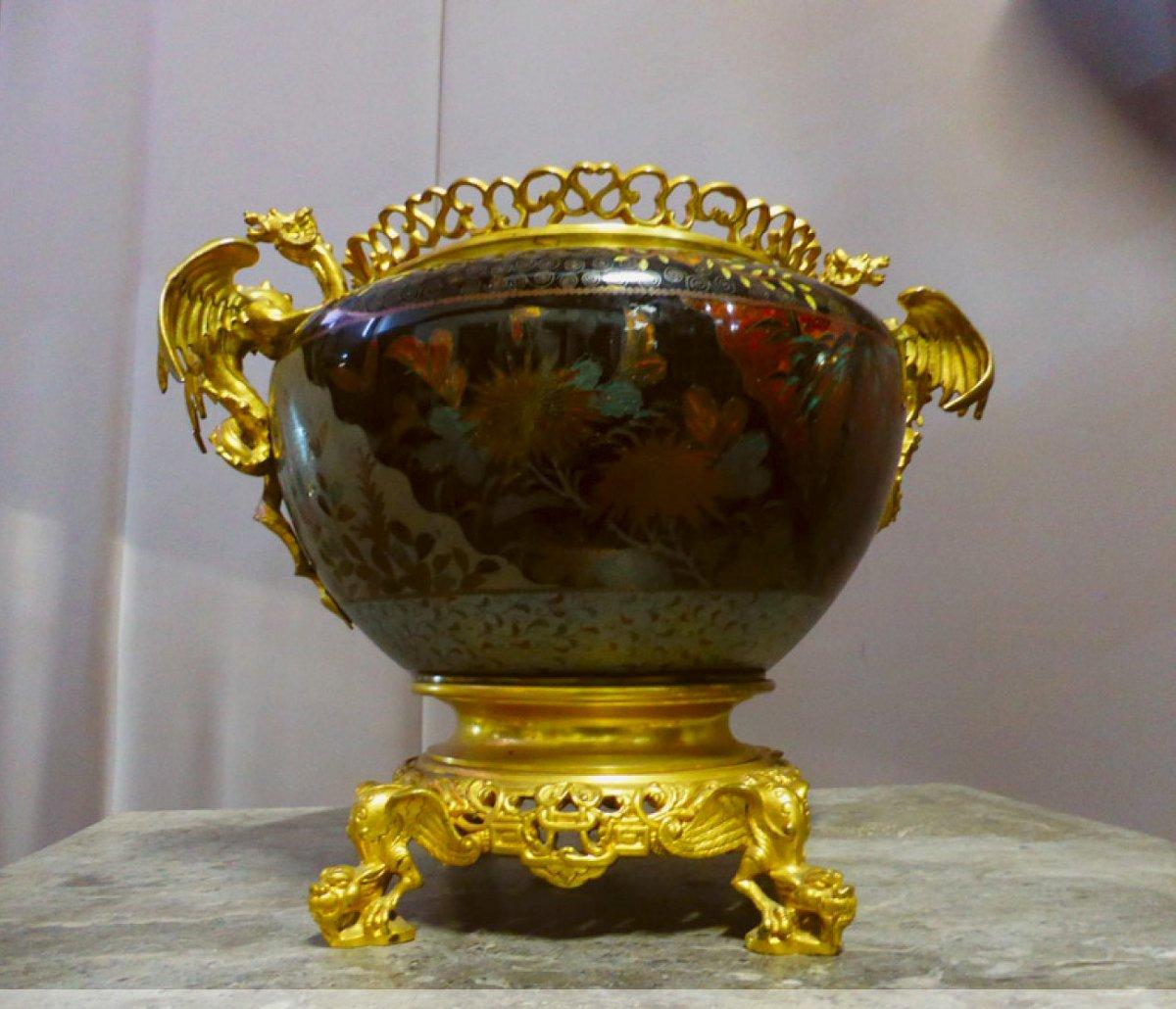 Objet Decoration Bronze Asie