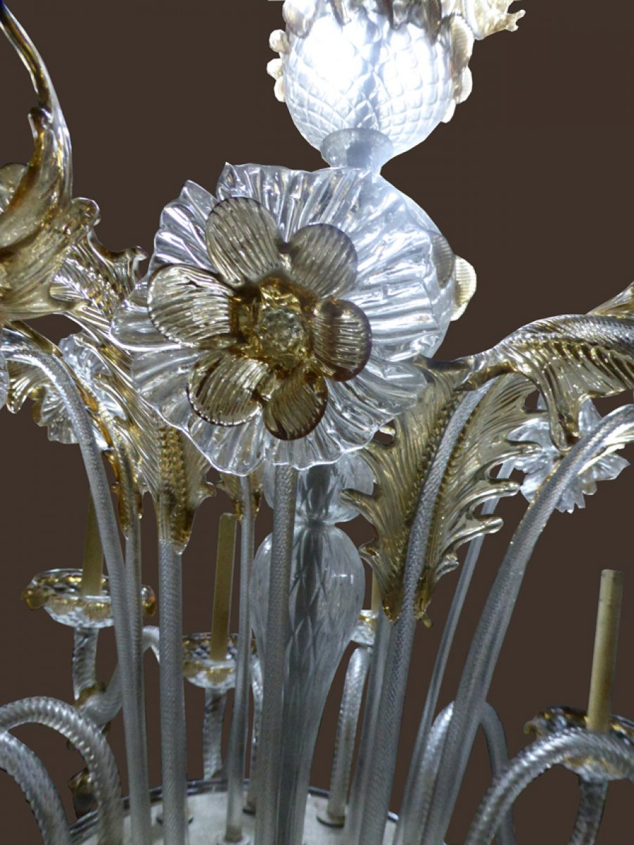 lustre en verre de murano xxe si cle. Black Bedroom Furniture Sets. Home Design Ideas
